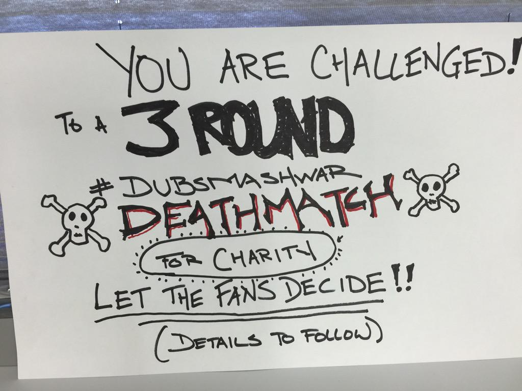 #dubsmashwar charity #deathmatch challenge is on! @HayleyAtwell #mrdarcy @ChloeBennet4 Details to follow... http://t.co/bhxa2VC6q9