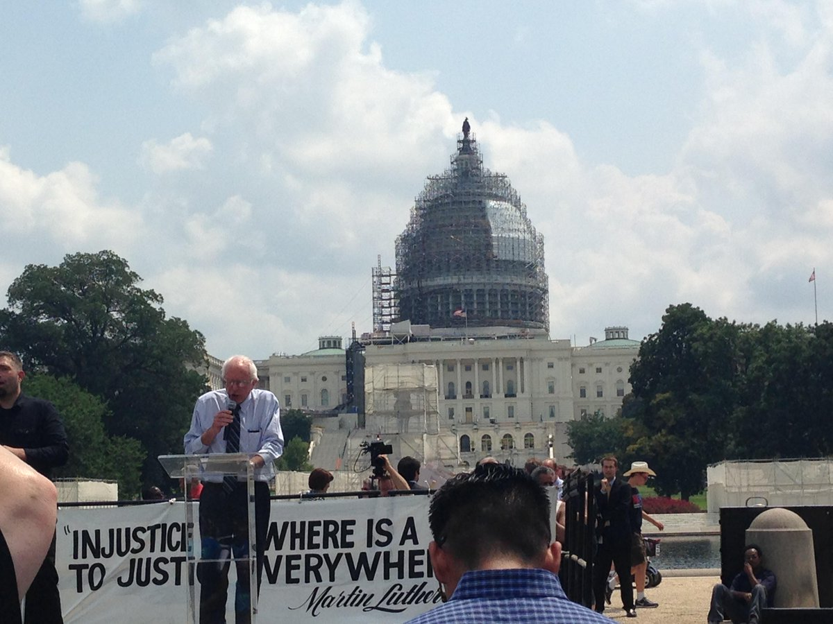 @SenSanders speaking about #ADA25 after the march! http://t.co/in6KzacbDl