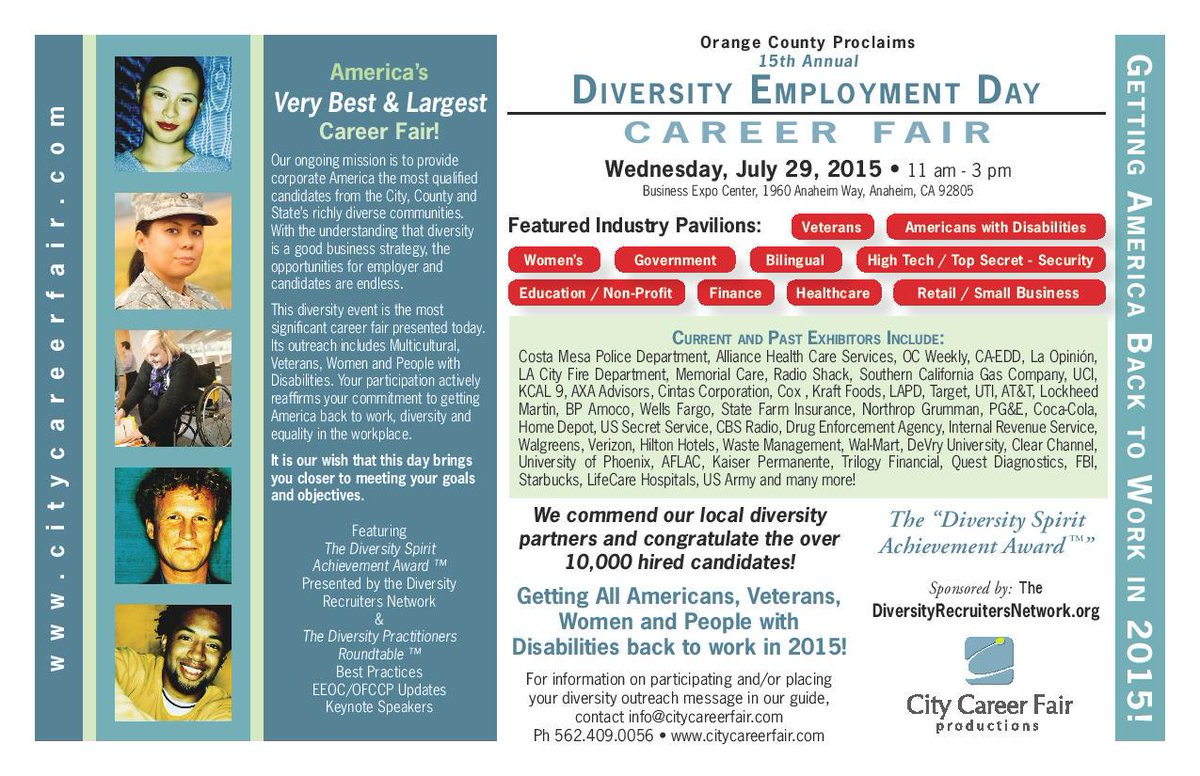 Career fair tomorrow in Anaheim! Employers are also from LA County and looking to hire YOU! #CSS #careers #careerfair
