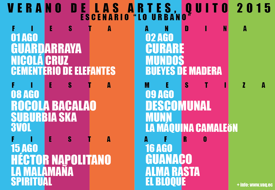 Planifique 01-02 agosto @Guardarraya_ec @nicolacruzz #CementerioDeElefantes @BandaCurare @MUNDOSbanda @BueyesDeMadera http://t.co/xdRA6gySZR