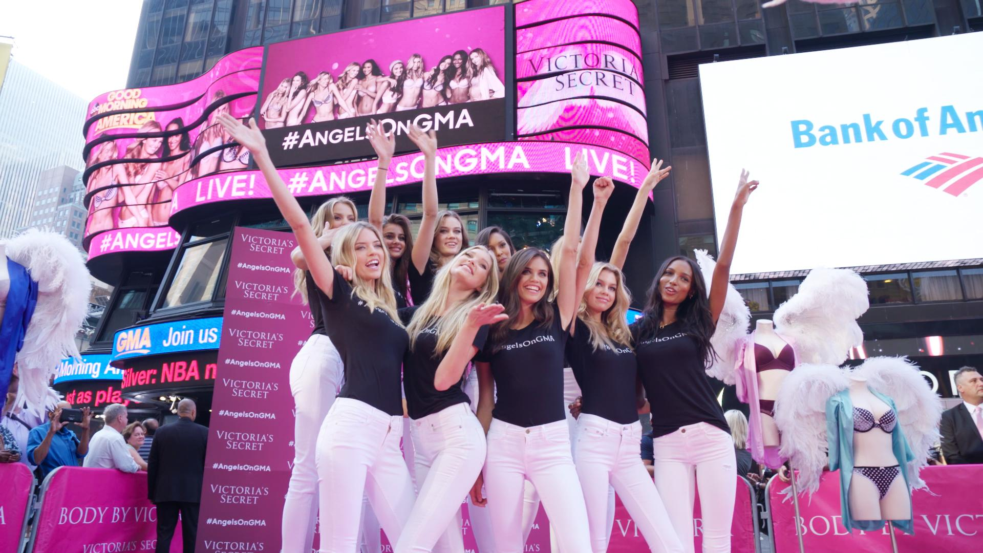 RT @madoffprod: Thrilled to have filmed the 10 new Victoria's Secret Angels! Congratulations ladies! @VictoriasSecret #TimesSquare http://t…