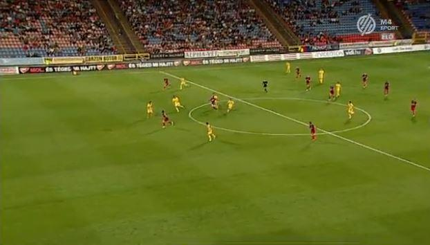 Ivanovski (far L in red) appeared to be onside when the pass was released