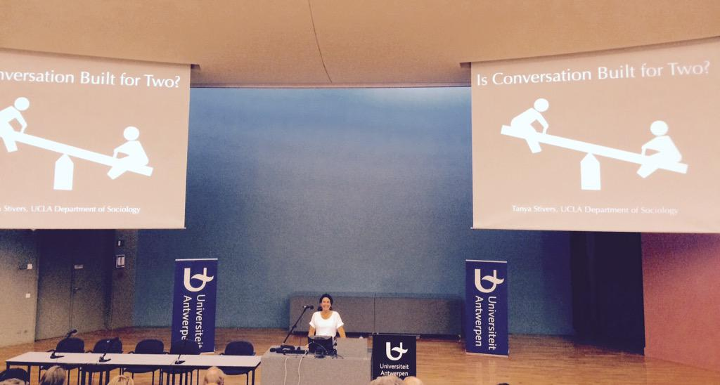 Is conversation built for two? Tanya Stivers' plenary #IPrA2015 http://t.co/vDDgZ1b3Bj