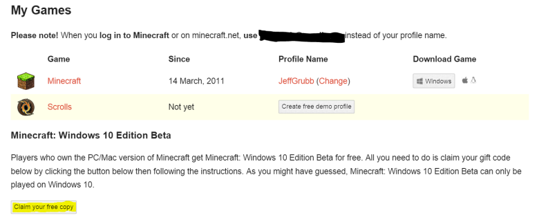 how to get minecraft for free windows 10