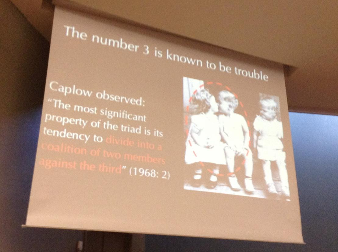 Tanya Stivers' plenary at #IPrA2015 on what is the base number of participants in conversation http://t.co/p71UyC8rZR