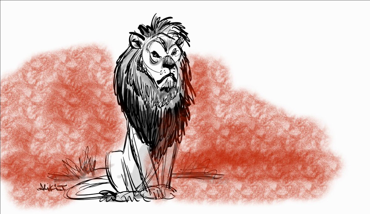 This story makes me too sad to do anything but draw him. Cruel and hideous. What a beautiful creature. #CecilTheLion http://t.co/UPcFDKoI5m