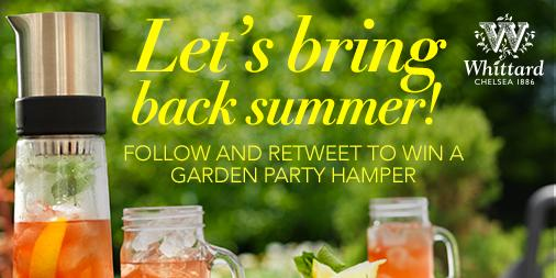 Follow @WhittardUK and RT to #win a garden party hamper, including Tea-Jay. Ends 04.08.15 10am http://t.co/YINsSEHDvP http://t.co/azZwrV7EKa