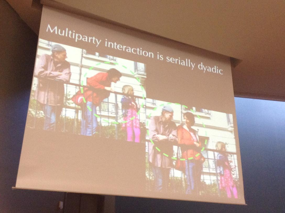 Nice illustration of Stivers' #IPrA2015 thesis - 2-person basis of conversation results in serial dyadic interaction http://t.co/hIDO2f41VU