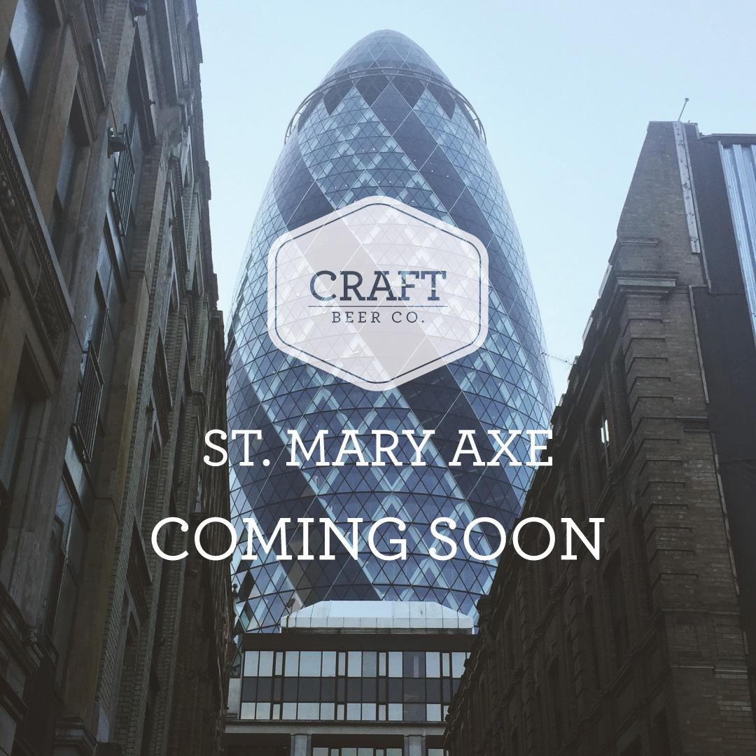 Better known as #thegherkin is #stmaryaxe the location of the brand new @craftbeercoEC3 coming later this year! http://t.co/muXK6BvGFJ