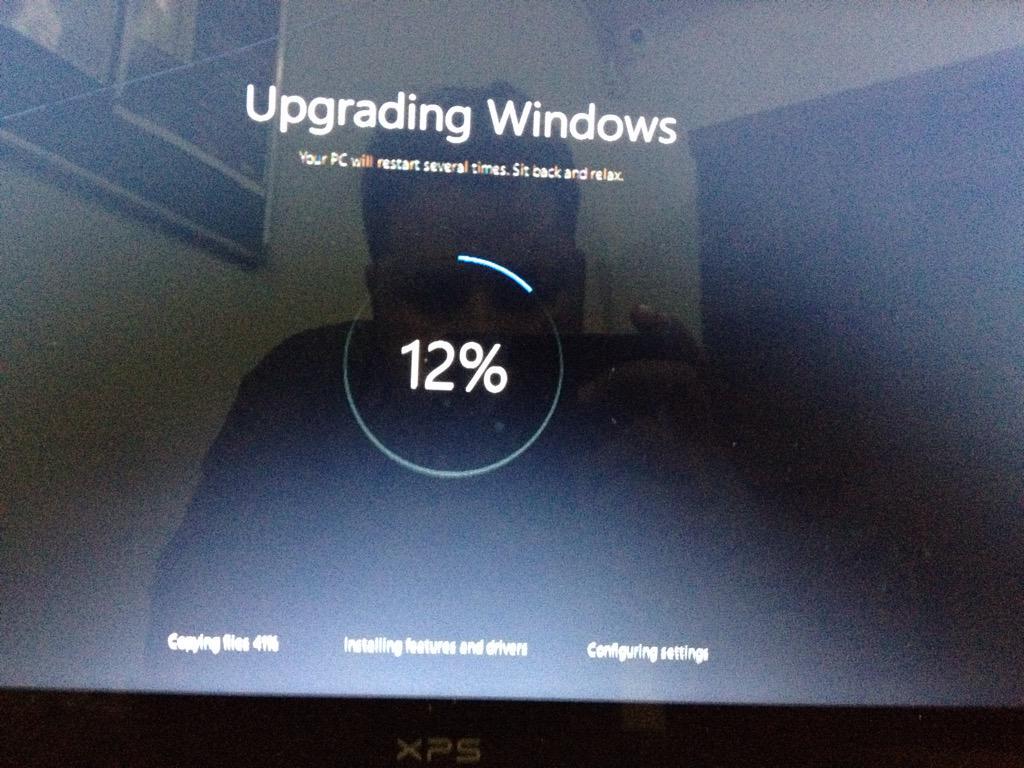 Upgrading to Windows 10... #thanksmicros...