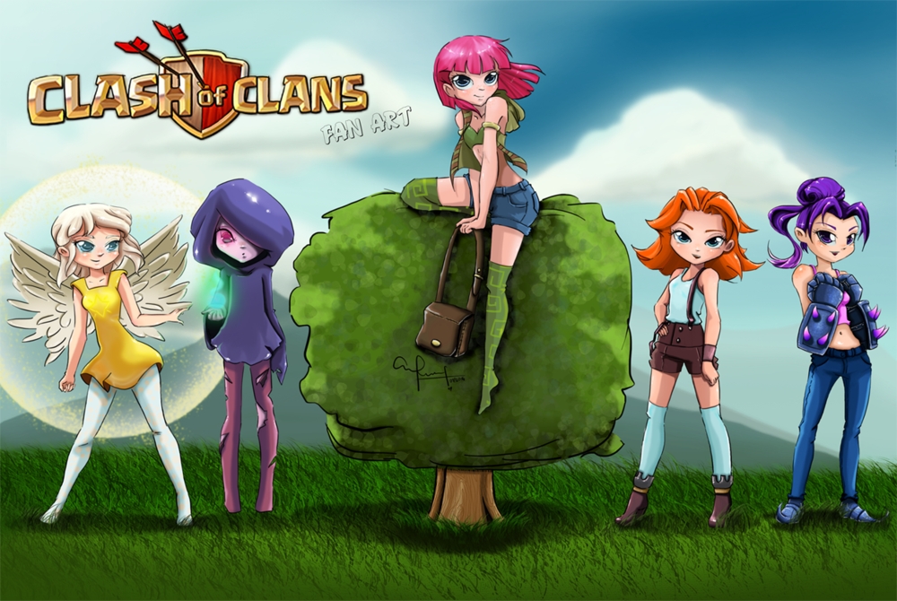 Clash Of Clans On Twitter Quot Teen Clash Ladies By Ronny