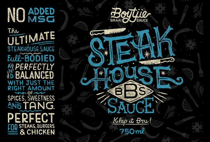 Muti On Twitter Steak House Label We Illustrated For A New South African Braai Sauce Packaging Illustration Lettering Braai Muti Http T Co Xc39d8icyr