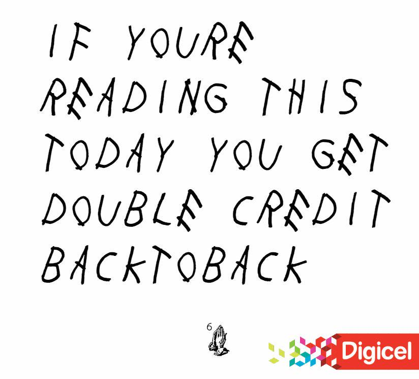 Top Up with $200 or more Today and get #BacktoBack Credit on your Digicel phone! #DoubleCredit http://t.co/lO9NGqhwJw