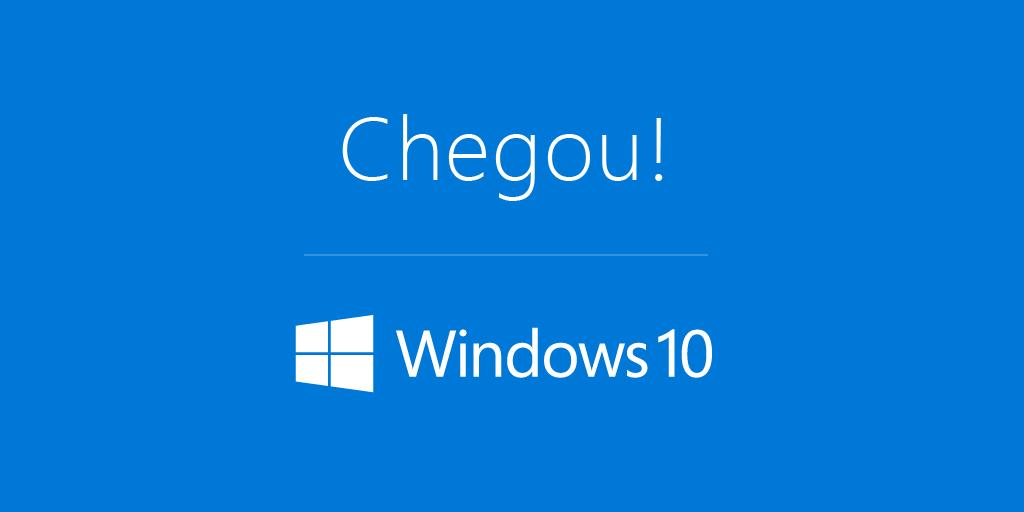 Acabou a espera, o  #Windows10 chegou! E trouxe de volta o menu Iniciar. @Windows