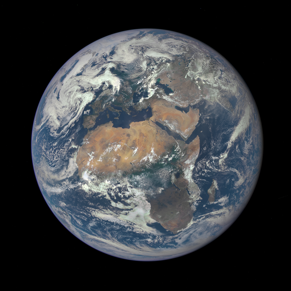 Africa and Europe from a Million Miles Away http://t.co/kLtFaE8A7o #earthrightnow #BlueMarble