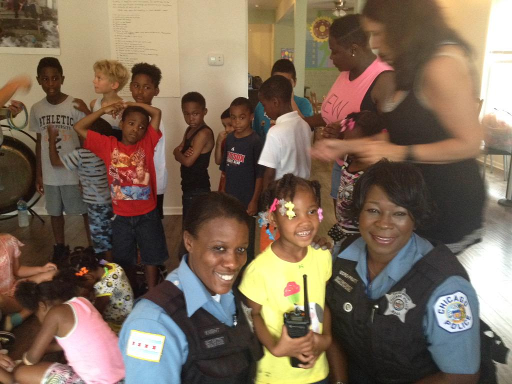 She wants to be the police , so we made her an honorary police cadet . Good in Englewood . http://t.co/Cvf8vi92T7