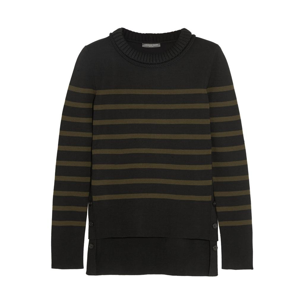 """""""@WorldMcQueen's take on a Breton sweater is a design classic with a twist"""" #TheRutsonReport  http://t.co/f3ynAG75q3 http://t.co/QCLZGoGFXz"""