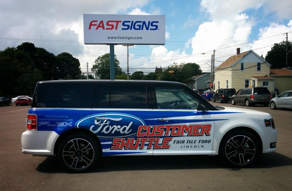 "FASTSIGNS on Twitter: ""The new @FairIsleFord Customer Shuttle, the ..."