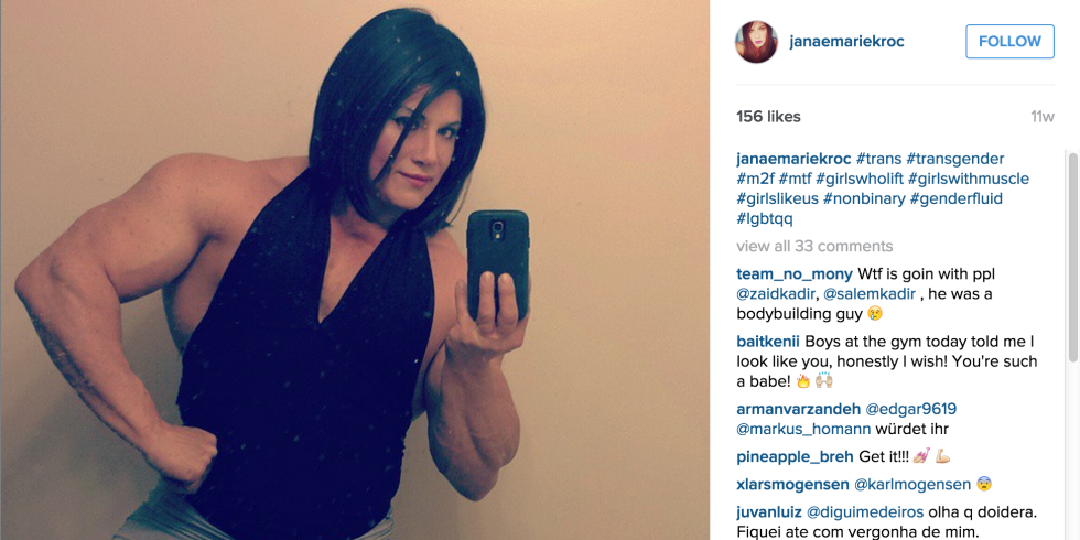 World champion bodybuilder comes out as transgender — what she says is SO inspiring: http://t.co/98dThkpj0c http://t.co/ru9iG7E88O