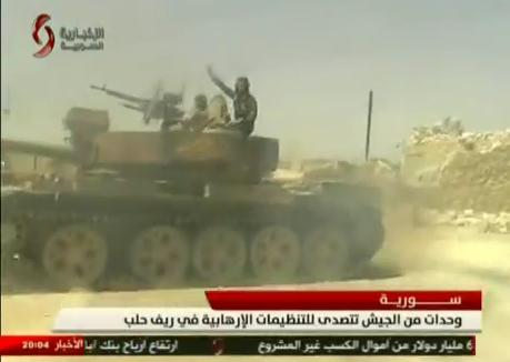 الدبابه T-55 السوريه ودورها في الحرب القائمه هناك  CLGhTvCUcAAh92-