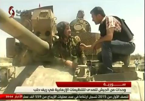 الدبابه T-55 السوريه ودورها في الحرب القائمه هناك  CLGhUa6VAAEK_RR
