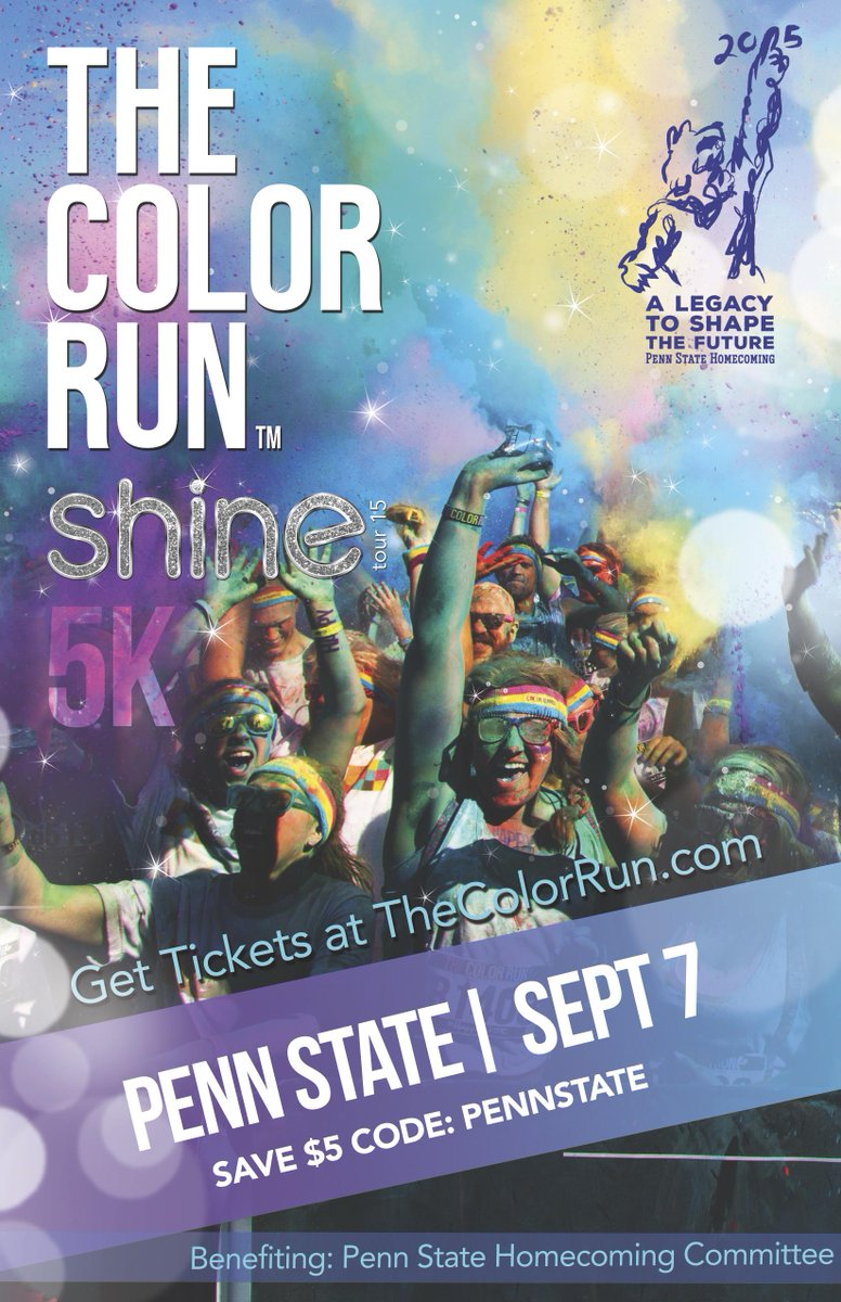 We are excited to announce @TheColorRun will be returning to Penn State on September 7th! #WeAreColorful http://t.co/AAoWxM3QiT