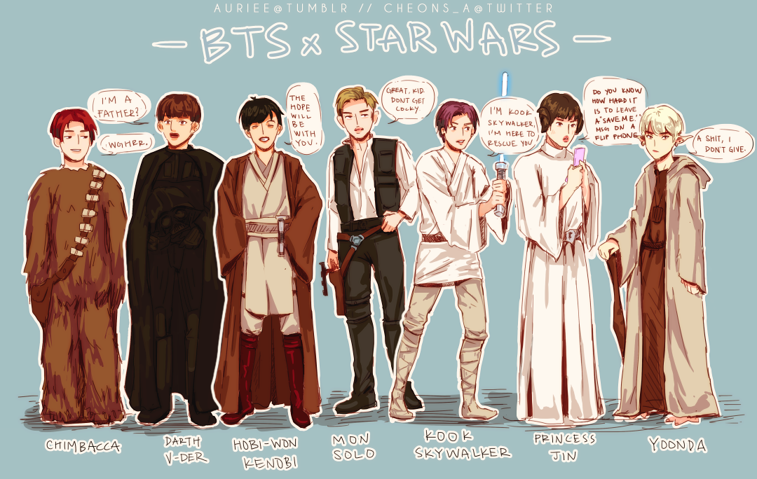 auriee � on twitter quotbts x star wars au with chimbacca