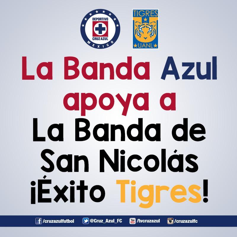 ¡La Nación Celeste te apoya @TigresOficial !  ¡Va por México! http://t.co/buaMx8WCD5