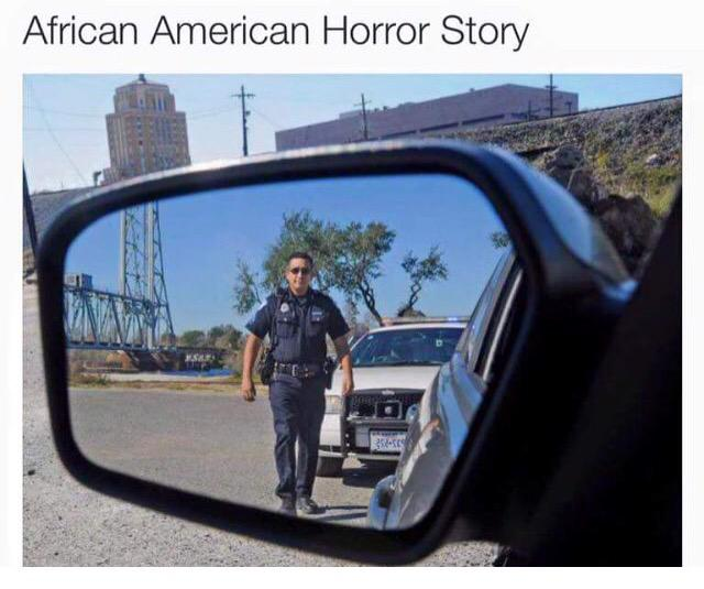 The terror a black person feels every time they're pulled over.... #SamDubose #BlackLivesMatter #SamDubose http://t.co/5vzQcwpu2X