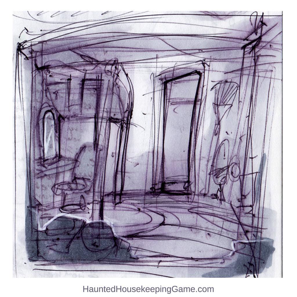 Gamedev Creepy Environment Design Sketch Closet Room Bed Ios Pen Ink Drawingpictwitter ZSJskhATnl