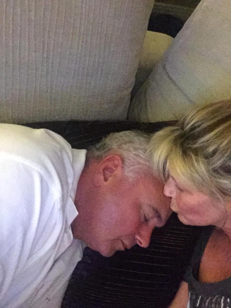 It's been a long day for @EamonnHolmes Shall I just leave him sleeping on the sofa?! #sleepingbeauty http://t.co/ijXXy6vUS4