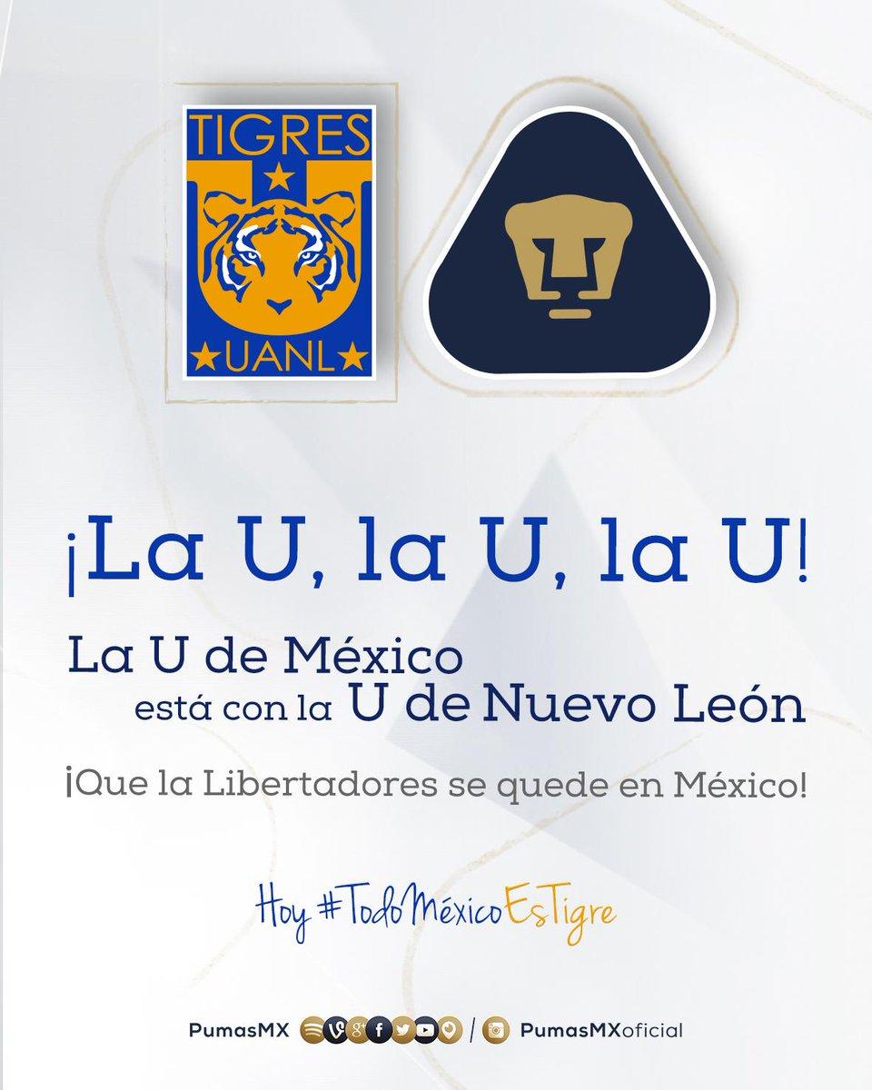 """Oye @TigresOficial, el """"Tuca"""" sabe cómo sacar las garras. Hoy #TodoMéxicoEsTigre #SoyDePumas http://t.co/R9vIwTUexw"""