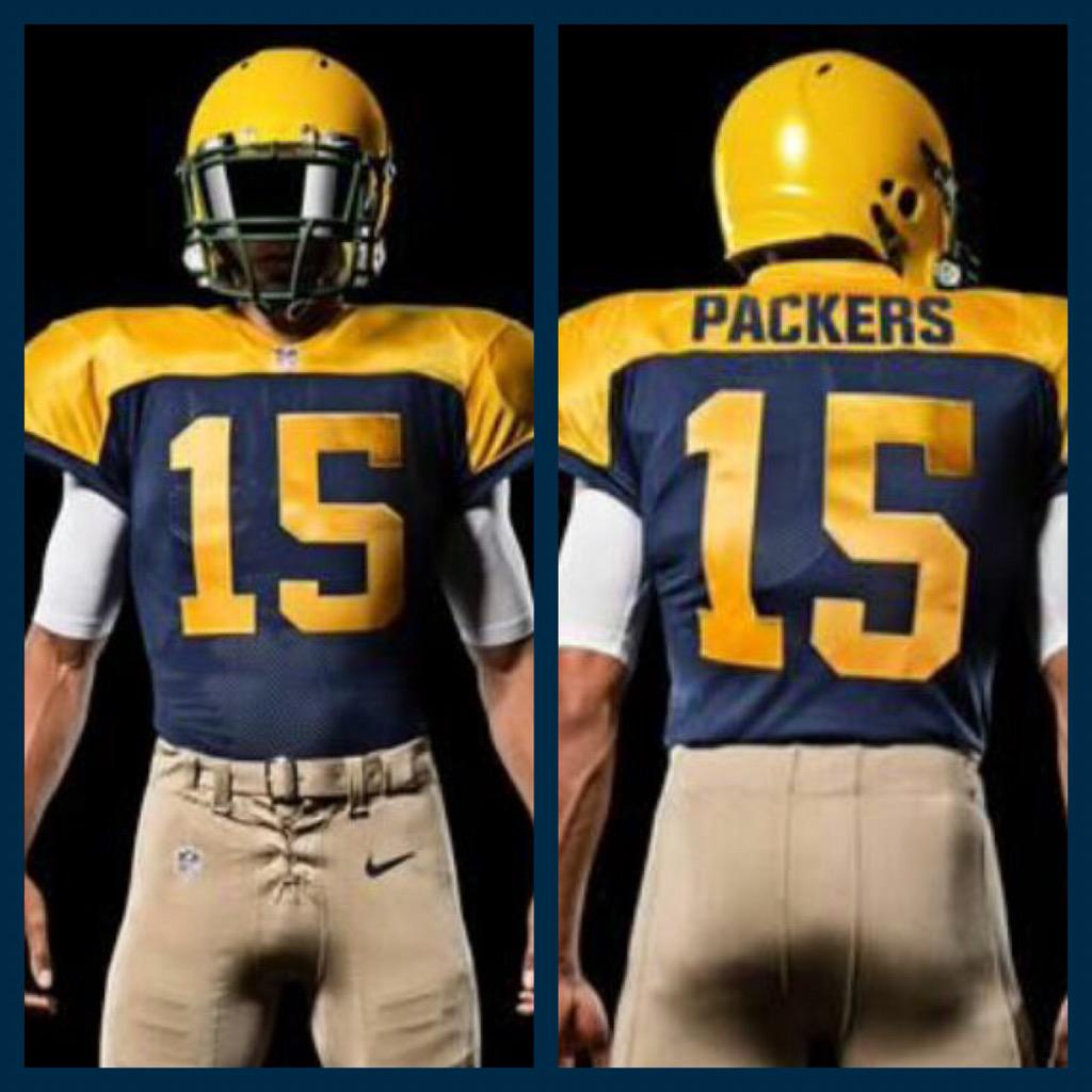 Packers have unveiled their throwback jersey for this year - similar to  the ones they wore 1938-49  packerspic.twitter.com 5ONNRqWsYi 5bf1fb50f