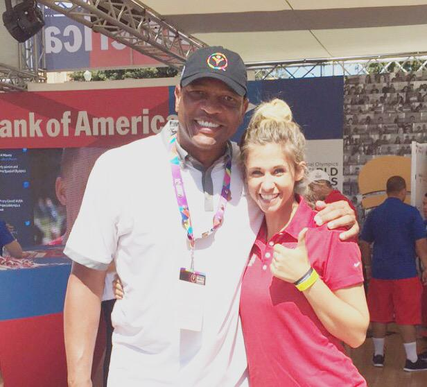 Checking out the @SpecialOlympics with Doc Rivers today! #thumbsup http://t.co/zOB2bKupCD
