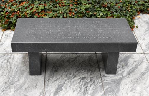 """RT @MuseumModernArt: Happy birthday to Jenny Holzer! See her """"Granite Bench"""" (1986) now in the #MoMAGarden. http://t.co/6chWNnGf97 http://t…"""