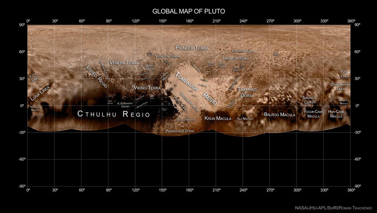 Карта планеты Плутон 1