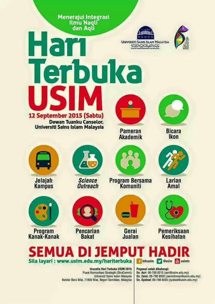 usim, universiti sains islam malaysia, 2015, hari terbuka, open day