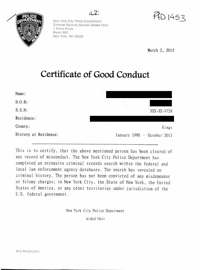 Man fakes NYPD letter in attempt to gain licence | Central