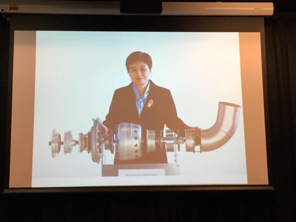A #3dprinted jet engine from @MonashUni #mobilemakers http://t.co/MbgpQ6MSlS