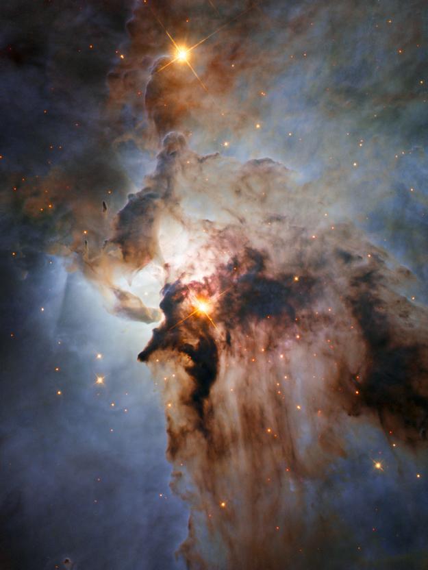 El telescopio Hubble capta imagen del corazón de la nebulosa de la Laguna