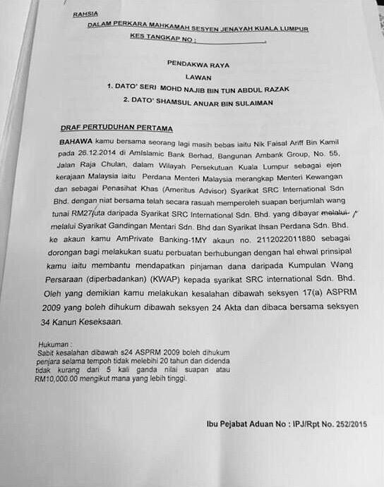 Kertas dakwaan utk Najib Razak ke muka pengadilan tlh siap!Patutlh GaniPatail dipecat!  #TangkapNAJIB #KitaLawanNajib http://t.co/3V7TZlEFtt