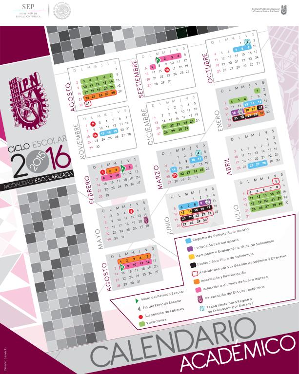 ... el calendario académico para el ciclo escolar del #IPN 2015