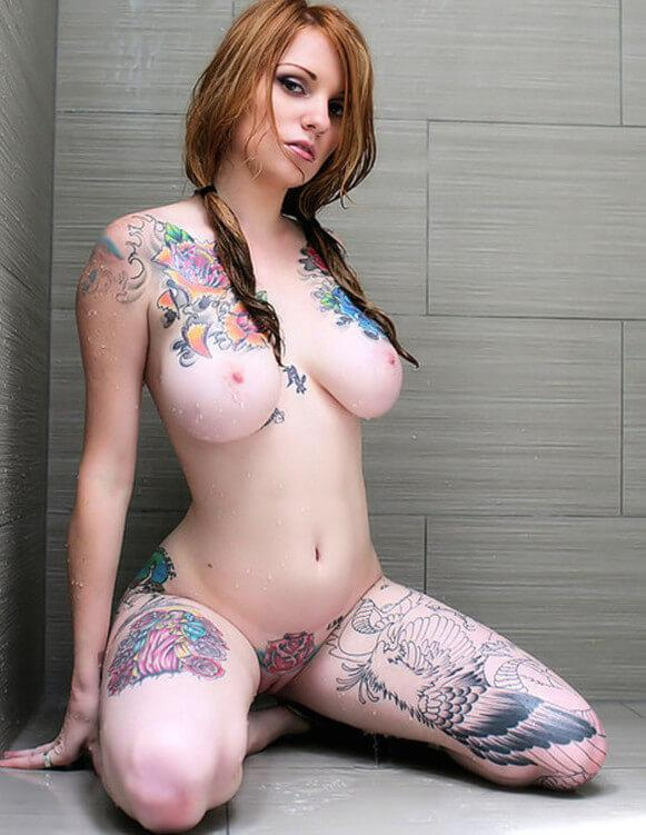 Breasts picture tattooed