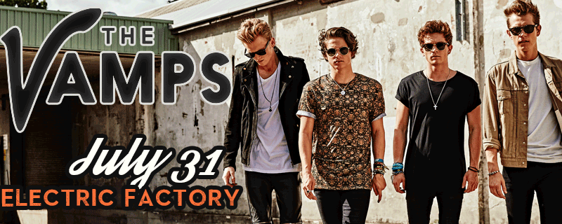 Tomorrow! @TheVampsBand at @EFactoryPhilly! #TheVampsUSA http://t.co/QxZHSEnJWd http://t.co/FRQApYfsrn