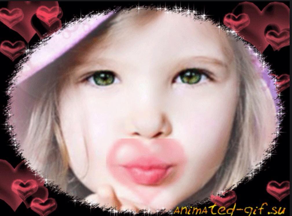 Картинка воздушный поцелуй анимация