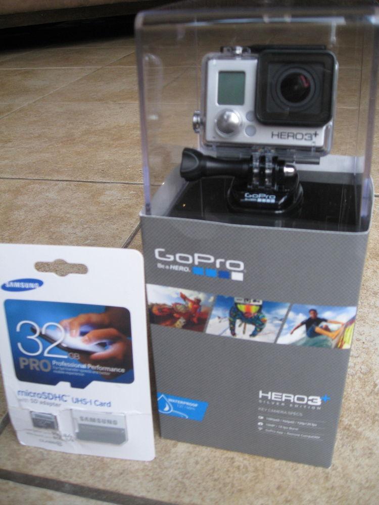 eBayUSA GoPro HERO 3 Plus Silver Edition. Brand New!! With 32GB Micro SD Card.
