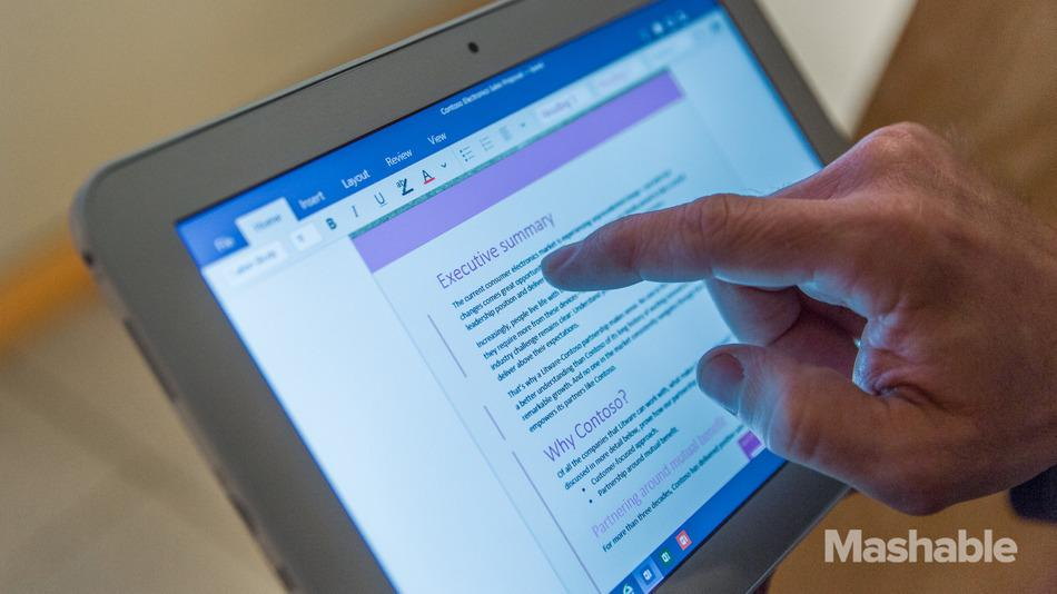 Microsoft Office apps built for touch come to Windows 10