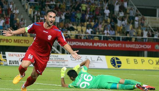 Ilijoski after his goal; photo: Telegraf