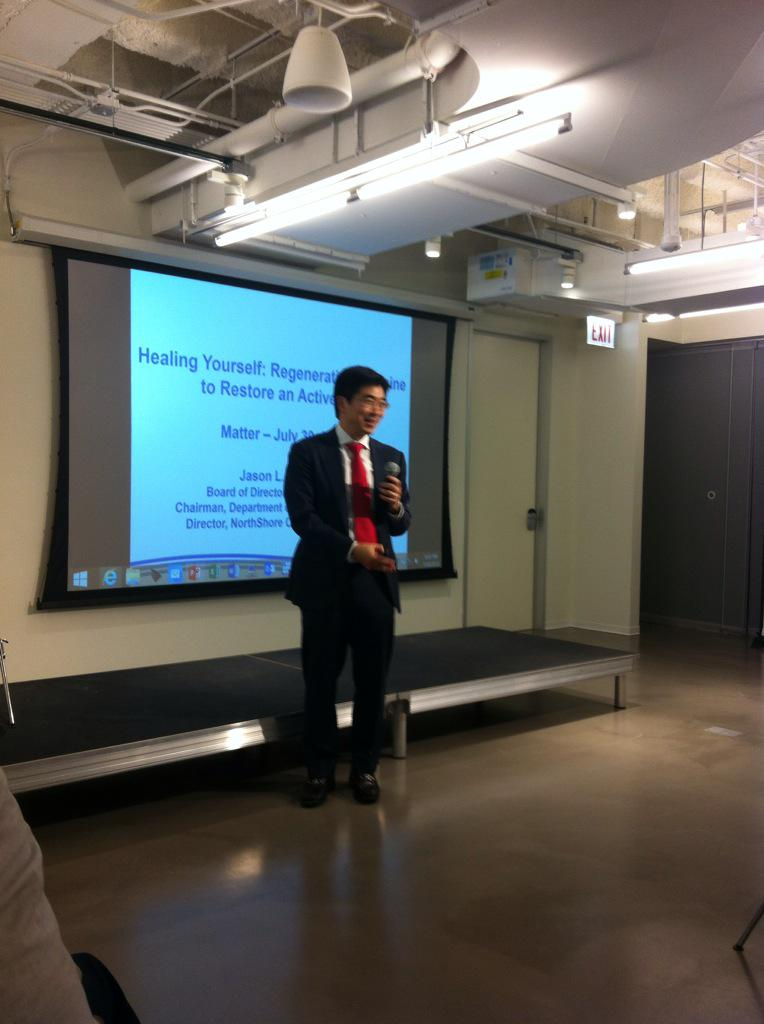 Applying to patient care, Dr Koh. #Healthcare @northshoreweb @matterchicago #nsnextmed http://t.co/RiLjurcYBP