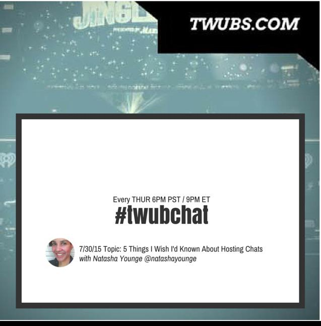Join us tonight for #twubchat 6pm PST 7/30 w experienced Twitterchat host @natashayounge http://t.co/izjKgVJPrm